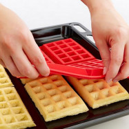 DIHE Silica Gel Waffle Cake Baking Mold Rectangle 4 Grid