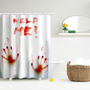 Blood Handprint Polyester Shower Curtain Bathroom  High Definition 3D Printing Water-Proof