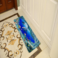 Undersea Bath Mat Rug Super Soft Non-Slip Machine Washable Quickly Drying Antibacterial for Kitchen