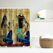 Ancient Egyptian Women Polyester Shower Curtain Bathroom  High Definition 3D Printing Water-Proof