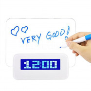 The New Alarm Clock LED Fluorescent Message Boards