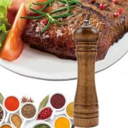 8 Inch Classical Wooden Oak Mills Adjustable Pepper Spice Salt Corn Grinder Muller Kitchen Accessories