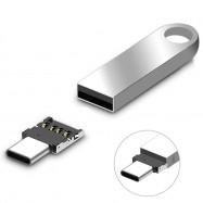 2PCS Type-C to USB 2.0 OTG Adapters
