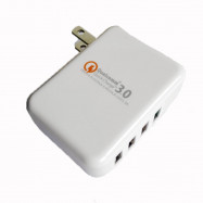 XY-QC30-4U 4 USB Mobile Phone Charger Fast Charging Head Europe America