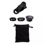 Three-In-One Phone Lens Fisheye/Wide/Telephoto Lens