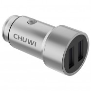 CHUWI Ublue C - 100 Portable Car Charger with Dual USB Ports Strong Compatibility