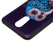3D Embossed Color Pattern TPU Soft Back Case for LG K10 2017 (Europe and America Edition)