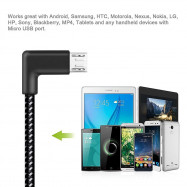 Micro USB Barided Cable Elbow Charging Line
