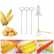 String Rotate Potato Slicer Stainless Steel Plastic Twisted Slice Cutter