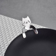 1Pcs Stainless Steel Cat Coffee Drink Spoon Tableware Kitchen Supplies