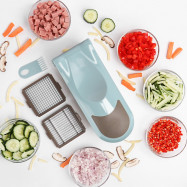 Multifunctional Onion Vegetable Chopper Slicer Dicer Cutter with 3 Blades