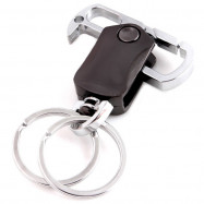 Metal Bottle Opener Keychain Fingertip Gyro Three In One