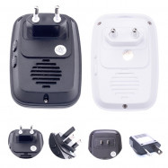 CACAZI Wireless Waterproof Doorbell with LED Light