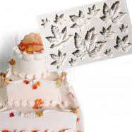 Maple Leaf Silicone Cupcake Baking Mold Christmas Fondant Cake Decorating Tools