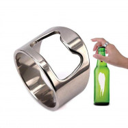 2 Pcs Stainless Steel Finger Ring Bottle Opener