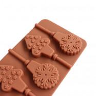 Creative Christmas Tree Lollipop Silicone Chocolate Baking Mould 1PCS