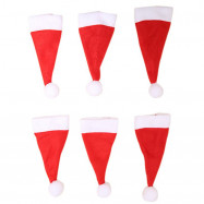 Mini Christmas Lollipop Cap Decoration 6PCS