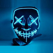 New Christmas Mask Cosplay Led Costume Mask EL Wire Light up for Party
