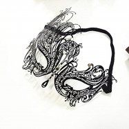 Halloween Masquerade Mask for beauty Women Metal Mask Shiny  Rhinestone Mask