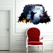 YEDUO 3D Halloween Household Room Floor Wall Sticker Mural Decor Decal