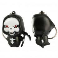 Ghost Reaper LED Illuminated Keychain Halloween Christmas Holiday Gift Pendant