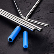 Colorful Stainless Steel Drinking Straw with Cleaning Brush