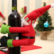 Santa Claus Bearhug Style Wine Bottle Cover / Decoration for Christmas