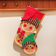 Christmas Style Stocking Sock Hang Decoration Candy Bag for Kids