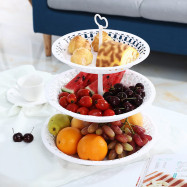 3 Tiers Fruit Tray Dessert Tower Cake Stand