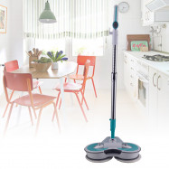 Rechargeable Electric Rotating Mop with Telescopic Steel Tube