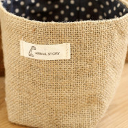 Double-sided Ear Cotton Linen Hanging Bag