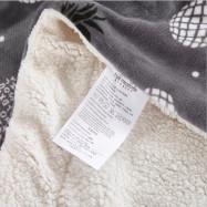 High Quality Berber Fleece Blanket with Flowers