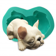 3D Bulldog Silicone Cake Decoration Mould for Chocolate Party