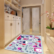 1 Pc Mat Antislip  Simple  Pattern Cozy Bedroom Home Decoration