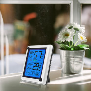 LCD Large Screen Weather Station Clock