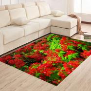 Bedroom Floor  Mat Sweet  Lifesome Flowers Pattern Anti-slip Soft Mat