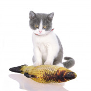 Catnip Simulation Fish Toy for Cat Plush Pillow Bite Resistance Interactve Play