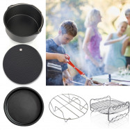 5PCS Outdoor Portable Frying Pans Double Grill Pot Holder
