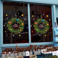 Christmas Rattan Ring PVC Window Wall Sticker