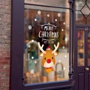 Christmas Deer PVC Window Wall Sticker