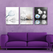 DYC 3PCS Underwater Flower Print Art