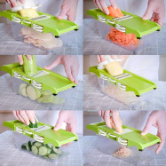 Multi-function Vegetable Food Cutter Fruit Slicer Chopper with 6 Blades Peeler