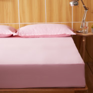 Full Cotton Pure Color Water Prevented Fitted Bed Sheet
