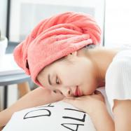 Quick Dry Coral Velvet Hair Drying Cap