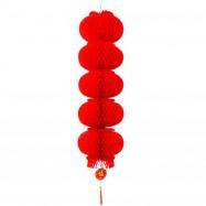 Spring Festival Pendant Five Strings of Large Red Lanterns String