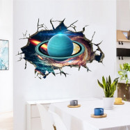 Uranus Pattern Removable Waterproof PVC Wall Sticker for Home Decoration