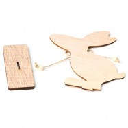 JM01128 Easter Wooden Rabbit Nordic Style Ornaments