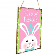 JM01139 Wooden Easter Home Decorations Hanging Board