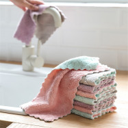 Absorbent Microfiber Kitchen Dish Cloth High-Efficiency Tableware Clean