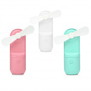 Mini Hand-held Fan with 2-speed Adjustment / USB Rechargeable Battery for Outdoor / Indoor Use